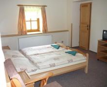 Dvoulůžkový pokoj v penzionu U lípy