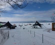 Stausee Lipno im Winter - Schlittschuhfahren