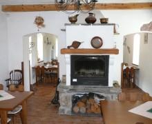 Kamin im Restaurant