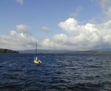 Segelboot am Lipno