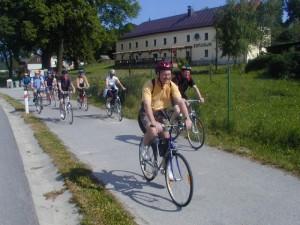 Cyklistická trasa u penzionu