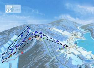 skiareal Kramolín - mapa