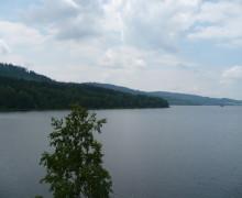 výhled na Lipenskou přehradu